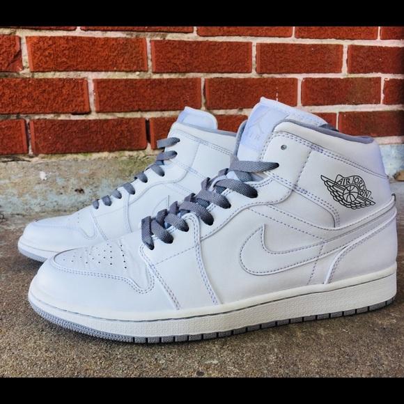 c9353f46b938 Nike Air Jordan 1 Mid White Wolf 🐺 Grey. M 5af1bf6dd39ca2f3a2807cdc. Other  Shoes ...